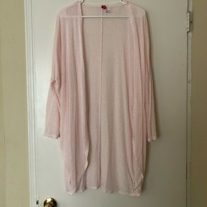 Light pink duster cardigan